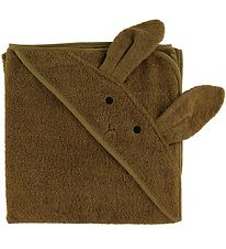 Liewood Hodded Towel - 100x100 - Augusta - Rabbit Olive Green