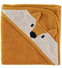 Liewood Hooded Towel - 70x70 - Albert - Fox Mustard
