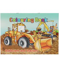 Colouring Book - Bulldozers & Tractors Colouring Book - 16 Pages