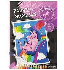 Paint By Numbers Colouring Book - Unicorns