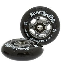 Streetsurfing Waveboard Wheel Set - Black w. Bearings