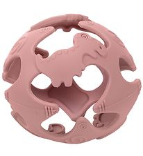 Tiny Tot Teether Ball - Silicone - Dusty Pink