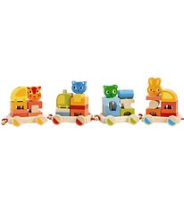 Djeco Activity Train - 64 cm - 34 Parts - Multicolour