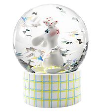 Djeco Snow Globe - 6 cm - White w. Rabbit