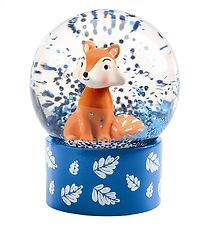 Djeco Snow Globe - 6 cm - Blue w. Fox