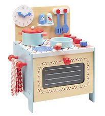Djeco Toy Kitchen - 37x35 cm - Wood - Blue Cooker