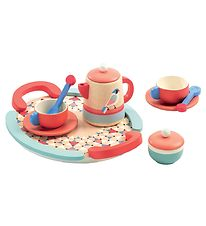 Djeco Tea Set - Wood - Rose