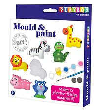 Playbox Mould & Paint - Plaster Magnets - Animals