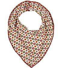 Katvig Teething Bib - White/Bordeaux w. Apples