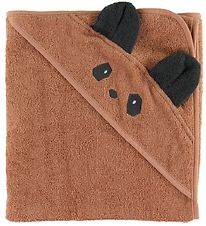 Liewood Hooded Towel - 70x70 - Albert - Panda Tuscany Rose