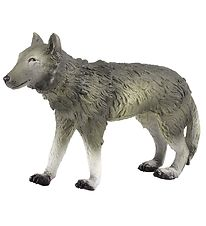 Green Rubber Toys Animals - 23 cm - Wolf