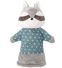 Bloomingville Hand Puppet - 25 cm - Raccoon - Gray/Blue