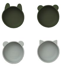 Liewood Bowls - Silicone - Iggy - 4 pcs. - Hunter Green Mix