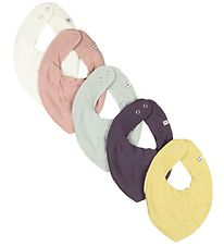Pippi Teething Bib - 5-Pack - Misty Rose