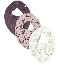 Pippi Teething Bib - 3-Pack - Plum