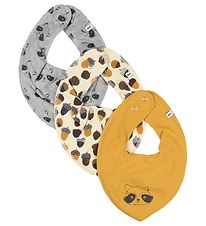 Pippi Teething Bib - 3-Pack - Mineral Yellow