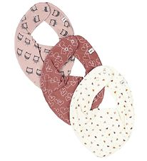Pippi Teething Bib - 3-Pack - Redwood