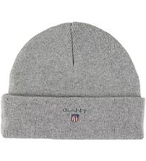 GANT Hat - Wool/Cotton - Double Layer - Original - Grey Melange