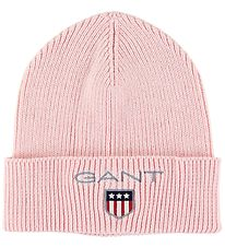 GANT Hat - Wool/Cotton - Medium Shield - Preppy Pink