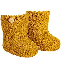 Condor Booties - Wool/Acrylic - Yellow