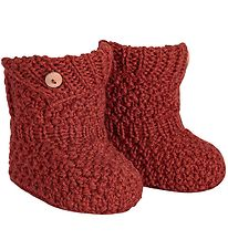 Condor Booties - Wool/Acrylic - Brick Red