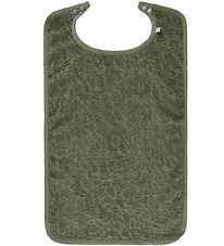 Pippi Bib - Terry Large - Deep Lichen Green