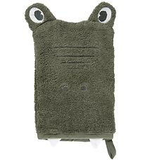 Pippi Washglove - Deep Lichen Green w. Dragon