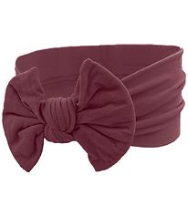 Bows By Stær Headband - Astrid - Bordeaux w. Bow
