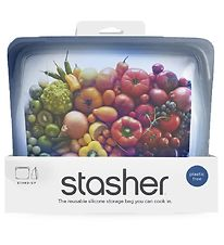 Stasher Storage Bag - Stand-up - 1,66 l - Ash