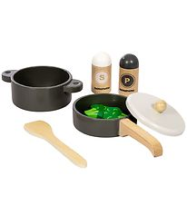 MaMaMeMo Pot and Pan Set - Wood