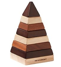 Kids Concept Stacking Tower - Plock Tower Pyramid - Brown