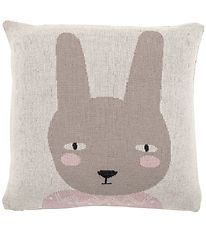 Bloomingville Pillow - 45x45 - Grey w. Rabbit