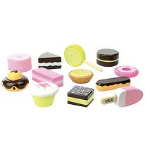 Vilac Play Food - 12 Parts - Cake Set