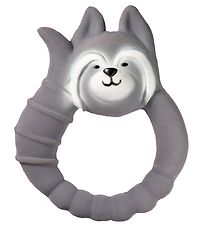 Natruba Teether - Natural rubber - Raccoon - Grey