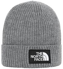 The North Face Hat - Knitted - Box Logo - Medium Grey Heather