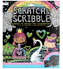 Ooly Scratch and Scribble Set - Princess Garden