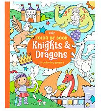 Ooly Colouring Book - 31 Pages - Knights and Dragons