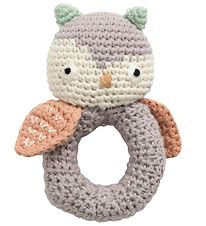 Sebra Rattle - Crochet - Blinky the Owl - Raindrop