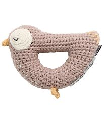 Sebra Rattle - Crochet - Bird Bliss - Misty Rose