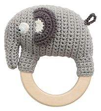 Sebra Rattle - Crochet - Fanto the Elephant - Classic Grey