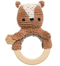 Sebra Rattle - Crochet - Milo the Bear - Twig Brown