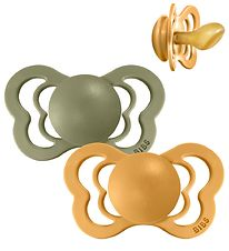 Bibs Couture Dummies - Size 2 - Natural Rubber - Honey Bee/Olive
