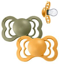 Bibs Supreme Dummies - Size 2 - Silicone - Honey Bee/Olive