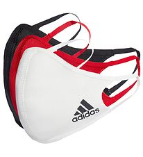 adidas Performance Face Masks - Small - 3-pack - Black/White/Red