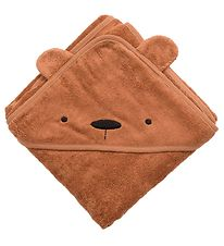 Zebra Hooded Towel - Bear Milo - Sweet Tea Brown