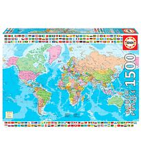 Educa Puzzle - 1500 Pieces - World Map