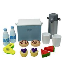 MaMaMeMo Play Food - Wood - Cooler Bag - Picnic Set