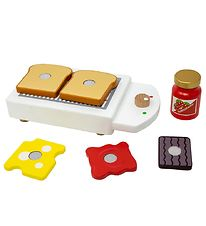 MaMaMeMo Play Food - Wood - Toaster Set