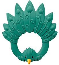 Natruba Teether - Natural rubber - Peacock - Green
