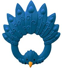 Natruba Teether - Natural rubber - Peacock - Blue